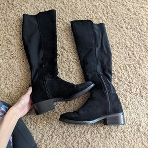Forever 21 Over the Knee Black Boots